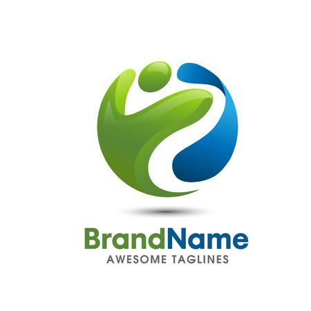 Salvare Scarica anteprima idoneità logo elegante e moderno logo concetto di forma fisica logo adatto per healtcare e wellnes sport business