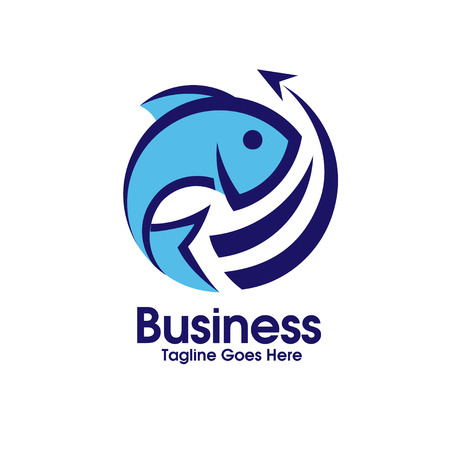 logo poisson: export logo de poisson frais Illustration