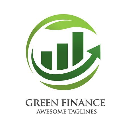 green finance logo design Ilustrace