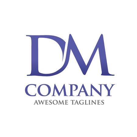typesetter: dm logo letter vector Illustration