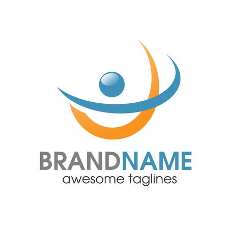 abstracta logotipo de las personas activas