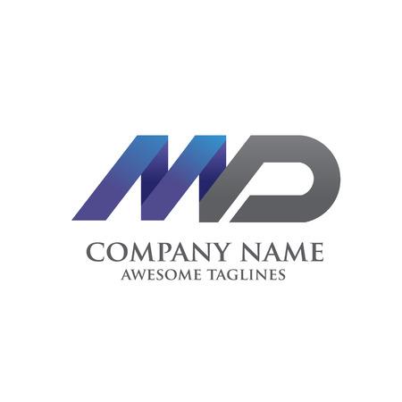 md: elegant MD letter logo