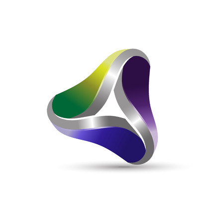 3d triangle: abstract 3d triangle infinity corporate business