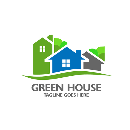 landlord: Eco house with green tree background