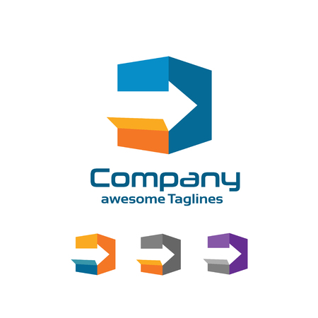 Fast delivery service logo