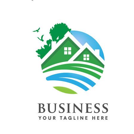 logotipo de la casa verde Logos