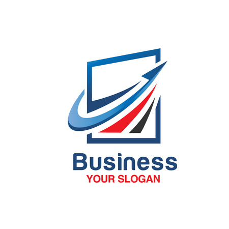 logo marketing: modern Marketing and Finance logo concept business.