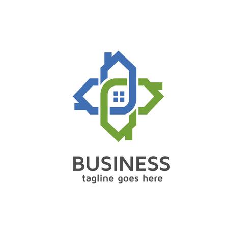 house logo: house connecting logo
