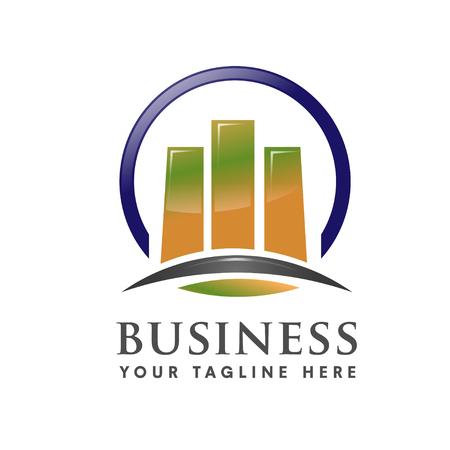 logo marketing: business marketing finance and property logo vector Illustration