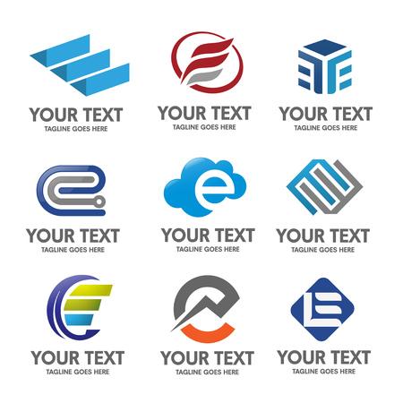 letter E set 일러스트