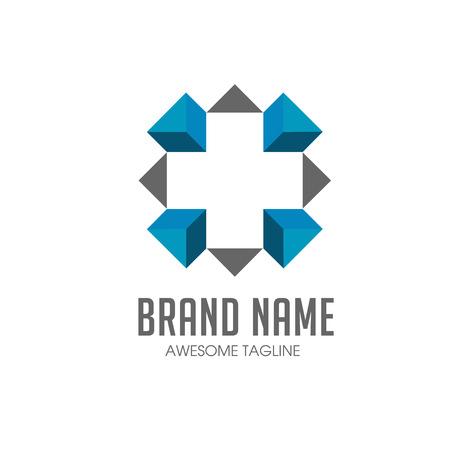 Cross plus medical logo icon Logo