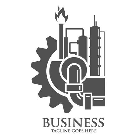 Fábrica y las industrias concepto de logotipo Foto de archivo - 56252582