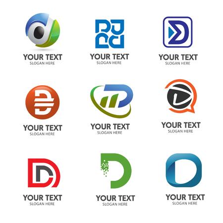 elegant letter D logo