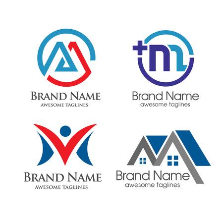 elegant letter M logo 일러스트
