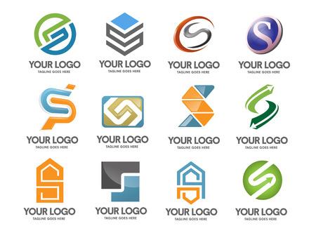 Letter s logo set Illustration