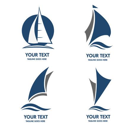 Icono del barco de vela Foto de archivo - 55080150