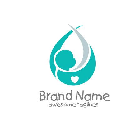newborn baby logo concept