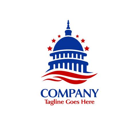 capital building, Bank, finance, insurance vector logo template. 일러스트