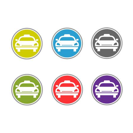 t square: Taxi icon vector