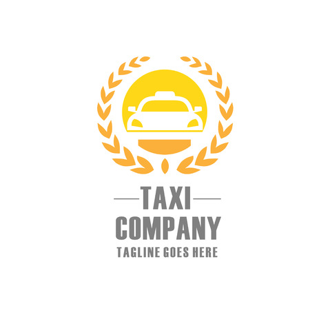Taxi logo sign Abstract classic modern Illustration Ilustrace