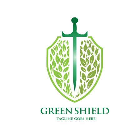 invincible: green shield Illustration