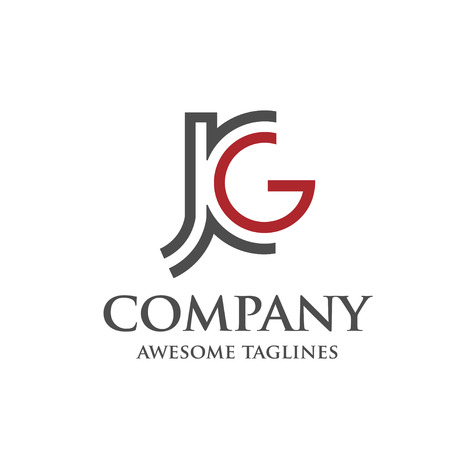 letter JG logo 向量圖像