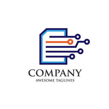 digital print, digital document, digital book  イラスト・ベクター素材