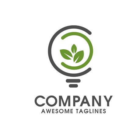 innovative concept: green innovative logo vector,Green concept, geometric design eco leaf. Vector Illustration