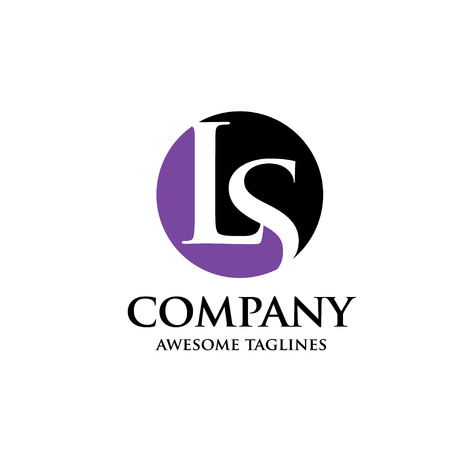 creative Letter LS legal and law logo design Vettoriali
