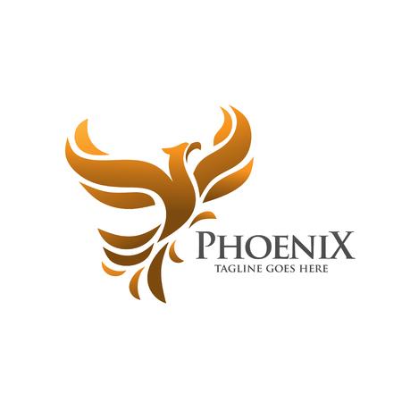 elegant and phoenix logo concept