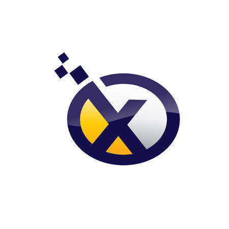 Business corporate letter X  design vector.