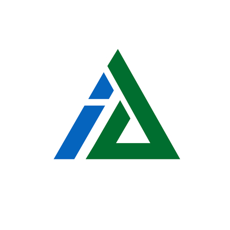 Business corporate letter A and I  design triangle vector.