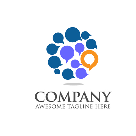 Social media, chat bubble ,network vector logo icon