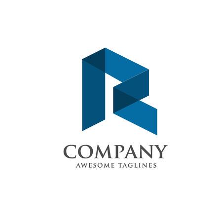 modern letter R logo concept