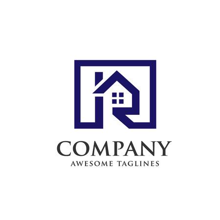 Immobilien mit dem Buchstaben R Konzept, Immobilien Logo