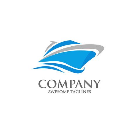 Jacht wektor, prędkość łodzi, statków Koncepcja logo