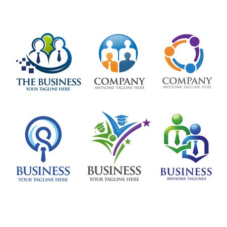 mensen uit het bedrijfsleven en leiderschap logo