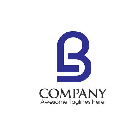 modern BL, LB letter logo vector