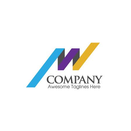 letter AW logo