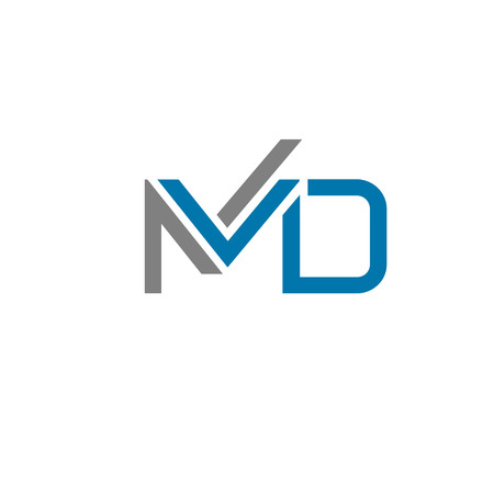 md: creative letter MD logo concept, innovative MD marketing logoconcept Illustration