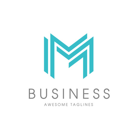 creative letter M Abstract business logo design template.