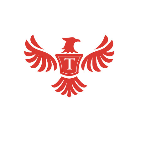 're: elegant phoenix with letter T consulting concept, eagle with letter T concept