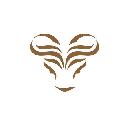 modern bull head creative abstract concept