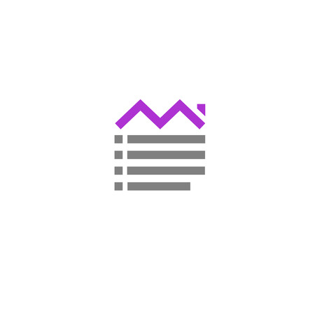 listings: Home list management and profit Business logo template Illustration