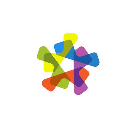 Abstract star Logo vector, Isolated modern stylish logo. Colorful logo. Geometric logo.