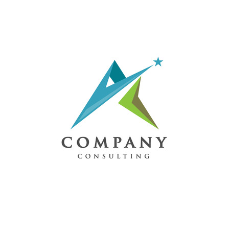 human resource: Best letter A logo with star concept, Letter A strong and creative logo concept, creative letter A concept design