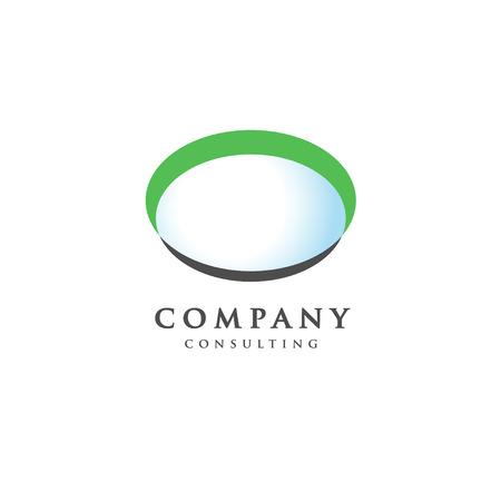 concepto elipse, extracto insignia elipse, plantilla de botones en blanco, concepto de logotipo placa