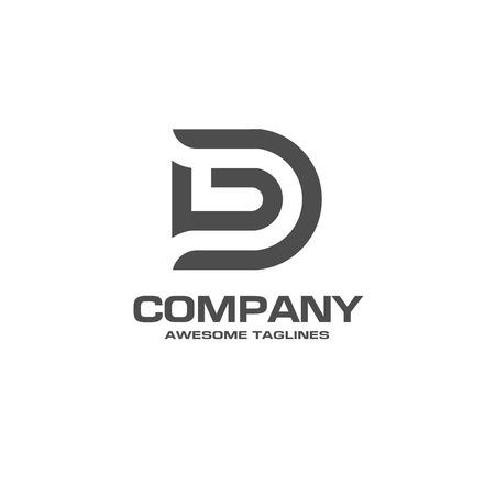 creativa letra D logotipo. Plantilla de diseño de logotipo de la empresa abstracta. plantilla moderna Logotipo de la letra D editable para su negocio.
