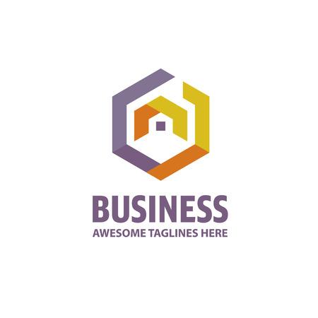 Creative Real Estate logo, Property and Construction Logo design Vector , colorful homes logo concept, neighbor house logo. hexagon house logo vector