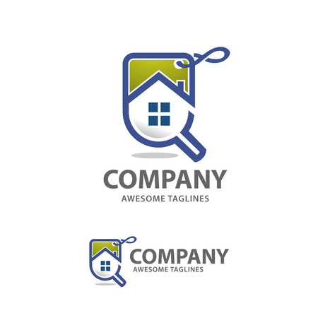 house for sale: Home sales logo vector, house search logo vector, searching for a house sale concepts.